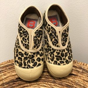 Leopard elasticized cloth sneakers - Elly